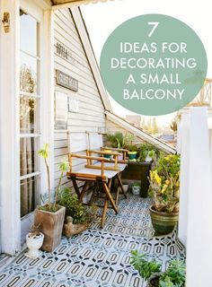 Seven ideas for decorating a small balcony. #home #patio