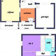 Plan Maison 60m2 Etage Plan Maison Plan De Maison Jumelee Plans De Maison Duplex