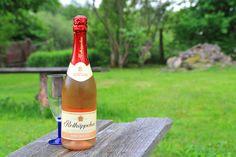 Nach einem regnerischen Tag genieße ich das saftige Grün im Garten mit einem Glas Rotkäppchen Rosé.