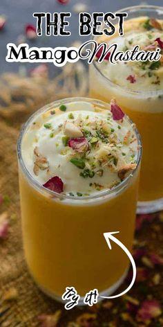 Mango Drinks, Mango Fruit, Mango Salad, Fresh Fruit, Paneer Recipes, Veg Recipes, Indian Food Recipes, Mango Kulfi, Mango Milkshake