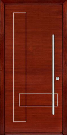 Entry Doors from our Passage line will transform your home to a contemporary masterpiece. Main Entrance Door Design, Wooden Front Door Design, Modern Front Door, Wooden Front Doors, Wood Doors, House Wall Design, Pooja Room Door Design, Door Design Interior, Internal Wooden Doors
