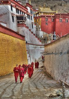 Tibet, Ganden monastery ♠ by carlo marrazza on 500px