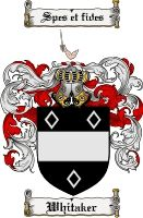 Whitaker Coat of Arms / Whitaker Family Crest gifts at www.4crests.com