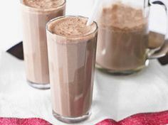 Banana and chocolate shake    A tasty LOW GI and Gluten free banana and chocolate drink to kick off your day.