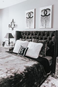 Black White and Grey Bedroom - Black White and Grey Bedroom, 36 Black & White Bedrooms S and Ideas for Bedrooms Black White And Grey Bedroom, Black Bedroom Decor, Grey Bedroom With Pop Of Color, Black Bedroom Furniture, White Home Decor, Black Decor, Home Decor Bedroom, Bedroom Ideas, Bedroom Office