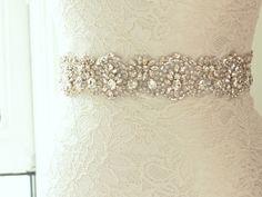 Bridal Belt / Crystal Beaded Wedding Sash / Rhinestone Belt / Wedding Sash (Asteria Sash)