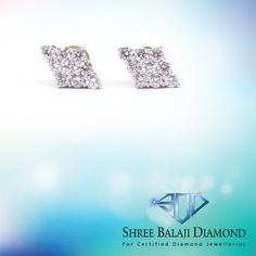 Embrace your unique beauty with this sparkling diamond earring. 18K gold with Belgium cut diamond.