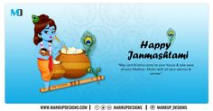 May the blessings of Lord Krishna fill your life with Health, Wealth, Love and Happiness.  Wishing you all a very Happy Janmashtami!  #HappyJanmashtami  #Janmashtami2020 #MarkupDesigns