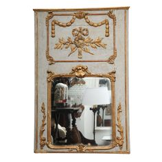 French Trumeau | From a unique collection of antique and modern trumeau mirrors at http://www.1stdibs.com/furniture/mirrors/trumeau-mirrors/