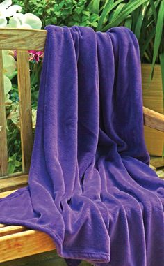 Amazon.com - Scene Weaver Delight Coral Fleece Throw, Amethyst Purple, 50 by 70-Inch - Throw Blankets
