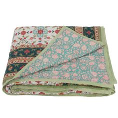 This hand-block printed design is fully reversible, with a delicate vine print and floral Goa design on the back. They are super soft and machine washable - meaning they're beautiful and practical, too!  These natural, breathable cotton quilts are great in the summer by themselves, or to add an extra layer of warmth in the winter - they look stunning draped over the end of the bed, or sofa.    100% reversible cotton voile  hand block printed  hand quilted natural, cotton filling Quilt Bedding, Linen Bedding, Cotton Quilts, Hand Quilting, Goa, Soft Furnishings, Printed Cotton, Print Design, Outdoor Blanket