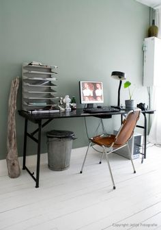 home office ideas and design for women girl men or boy, very apic Home Office Inspiration, Room Inspiration, Interior Inspiration, Office Ideas, Interior Ideas, Creative Inspiration, My New Room, House Colors, Wall Colors