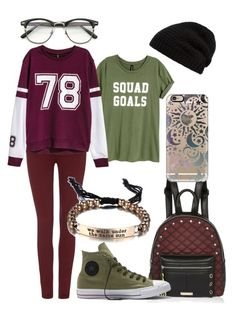 Maroon #5 by newaland on Polyvore featuring polyvore, moda, style, H&M, Maison Scotch, Converse, River Island, Casetify, Rick Owens, ZeroUV, fashion and clothing