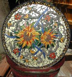 Mezzo Luna Mosaics - Custom Mosaics, Mosaic Mirrors, Plaques, Candleholders, and Table & Bar Tops