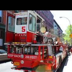 Tiller #Firetruck in NYC. This is Ladder 5 #FDNY. Taken by Kids Fire Dept.