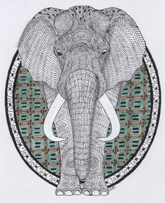 Elephant // Animal Poker Art Print by Andreas Preis ...