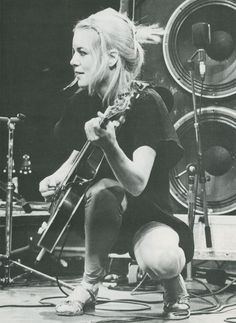 TINA WEYMOUTH (bassist for Talking Heads) - American Navy brat who grew up in California, Hawaii, France, Belgium, Switzerland, Iceland and Washington DC.  Her mother was born in France. [HLT]