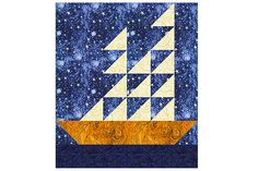 Sew a fleet of boats with my Tall Ships quilt block pattern, an easy patchwork design that you can use for quilts of any size.