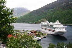 Stunning shot of Azura berthed in Flam.....this will be us next April aboard Ventura on our honeymoon :-)