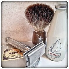 November 27th 2016 - Shave of the day #Rocnel DE42 safety razor ( TR )  #Treet carbon black blade ( PAK )  #Blue's soap #goat #milk shaving soap ( NZL )  #OldSpice #musk #aftershave by #Shulton ( IN )  #HJM pure #badger shaving brush ( GER )  #shavelikeaman #shaveoftheday #blaireau #shavingculture #sotd #classicshave #derazor #vintageshave #wetshaving #worldshave #safetyrazor #italianwetshavers #rasierhobel #rasaturatradizionale #thebarberpole #afeitado