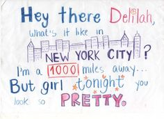Plain White T's - Hey There Delilah...My son used to stop crying if I would sing this to him, i miss babyhood