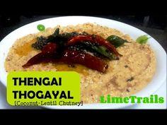 Coconut Urad Dal Chutney | Thengai Thogayal | South Indian Recipe | Chat...
