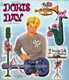 Doris Day (1956)* The International Paper Doll Society Arielle Gabriel artist ArtrA #QuanYin5 Twitter, Linked In QuanYin5 *
