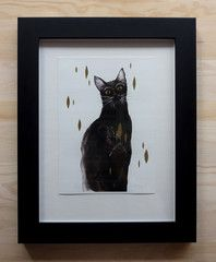 Black Cat - gilded by ellaquaint Illustrations, Cats, Frame, Happy, Blog, Inspiration, Picture Frame, Biblical Inspiration, Gatos