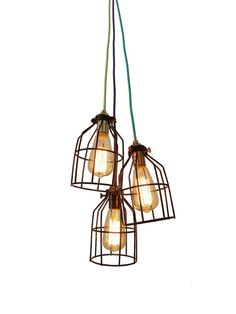 Hey, I found this really awesome Etsy listing at https://www.etsy.com/listing/263203060/3-caged-pendants-cluster-light-fixture