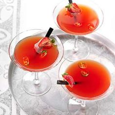 Strawberry Chile Martini
