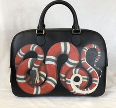 dc4cb45f2e4 GUCCI Black Leather King Snake Duffle Bag  fashion  clothing  shoes   accessories