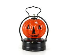 Vintage Glass Pumpkin Lantern Halloween Decor by GizmoandHooHa