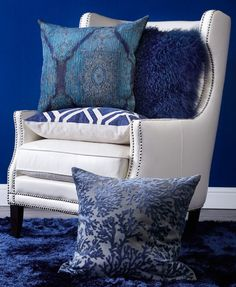 Style Tip: a bright + bold pillow is a great way to experiment with new hues without all the commitment.