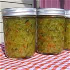 Sweet Zucchini Relish with jalapeno for a little  zip