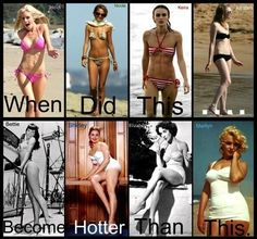 I honestly don't think a size 2 is hot... I have never had a goal to look like a dried up raisin when I diet!! I think women with curves are way more beautiful<3