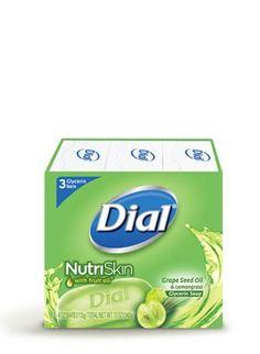 NutriSkin® with Fruit Oil® Grape Seed Oil & Lemongrass Glycerin Bar Soap   Dial #getnoticed #spon