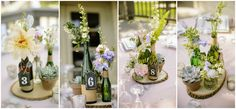 Simple centerpieces. I want my main use of flowers to be dahlia, peony, fresh lavender, seeded eucalyptus, & baby's breath!