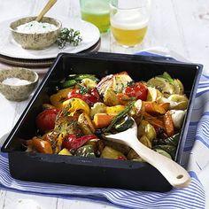 Geschmortes Gemüse vom Blech Rezept | LECKER