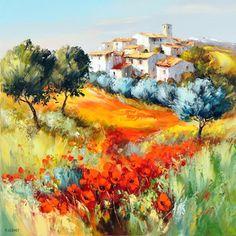 Watercolor Landscape, Landscape Art, Landscape Paintings, Watercolor Art, Artist Art, Artist Painting, Painting & Drawing, Cool Paintings, Beautiful Paintings