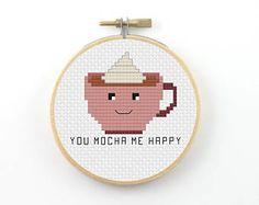 You mocha me happy cross stitch pdf pattern