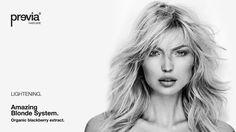 Previa Amazing Blonde System. Per capelli biondo platino e bianchi. Un trattamento antigiallo condizionante rigenerante ideale per i biondi naturali, decolorati, con mechès o con tinture superschiarenti.