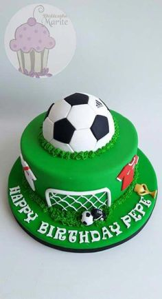 Birthday Cakes Cupcakes Cakes Football 50 Ideas For 2019 Football Cupcake Cakes, Football Themed Cakes, Football Birthday Cake, Soccer Birthday Parties, Soccer Cakes, Birthday Boys, Football Cakes For Boys, Boy Birthday Cakes, Soccer Ball Cake