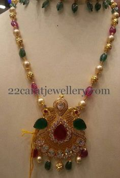 South Sea Pearls Chain with Locket | Jewellery Designs