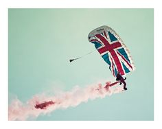 Art Photography photography art photographic photo colour faded retro union jack british jubilee flag parachute poe team £14.95