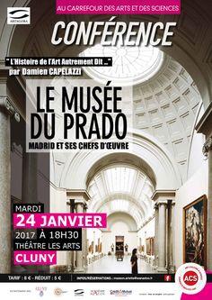 """Conférence """"Le musée du Prado, Madrid et ses chefs d'oeuvre"""" le 24 janvier 2017 à Cluny : http://clun.yt/2cePnHV"""