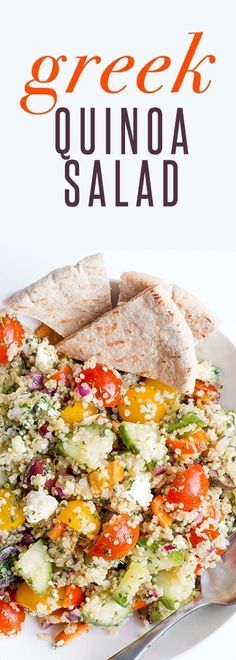 Gluten-Free Cold Greek Salad Recipe- this salad is a flavorful greek side dish, easy to make for family dinner. Gluten-Free Cold Greek Salad Recipe- this salad is a flavorful greek side dish, easy to make for family dinner. Healthy Sides, Healthy Side Dishes, Side Dish Recipes, Quinoa Side Dish, Greek Quinoa Salad, Quinoa Salat, Cold Quinoa Salad, Quinoa Rice, Vegetarian Lunch