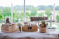 Rustic Wedding Cupcake Display @G N - also a super cute option! They sell the wooden wine crates at Total Wine. I have a few!