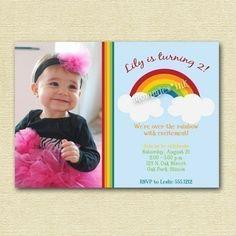 Over the Rainbow Birthday Party Invitation   von MommiesInk auf Etsy, $12.50