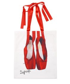 Syrup.(シロップ)の〔himitsu〕etude ballet bag(トートバッグ)|レッド