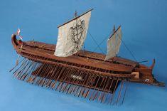 "Greek Trireme 42"" Museum Quality Wooden SHIP Model | eBay"